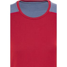 Norrøna Falketind Super Wool T-shirt Femme, crimson kick